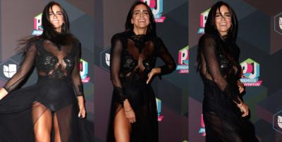 Piernas y abdomen de acero: el paso de Bárbara de Regil en Premios Juventud 2017