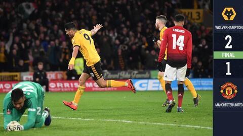 Raúl Jiménez vuela alto con los Wolves y los lleva a semis de la FA Cup