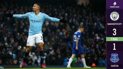 Manchester City vuelve a la cima de la Premier con goles de Gabriel Jesús