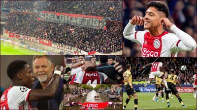 En fotos: goleada del Ajax sobre el Lille en la UEFA Champions League
