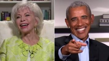 """Isabel Allende hace sonrojar a Barack Obama al declararle al final de su entrevista: """"You look hot"""""""
