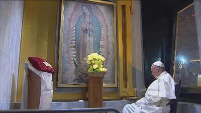 El momento de oración del Papa Francisco a la Virgen de Guadalupe