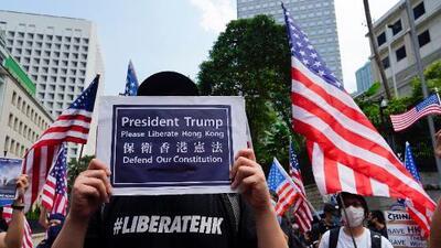 """Los manifestantes de Hong Kong piden a Trump que interceda y """"libere"""" ese territorio de China"""