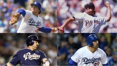 Los mexicanos que jugaron tanto en Dodgers como en Padres en la MLB