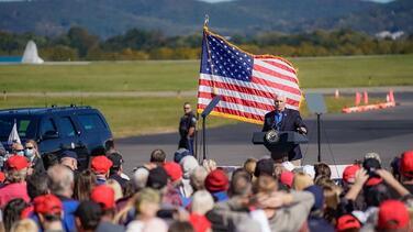 """Pence le dice a la multitud de Reading que el camino hacia la victoria """"atraviesa Pensilvania"""""""