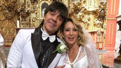 El Vítor se casó con Geraldine Bazán