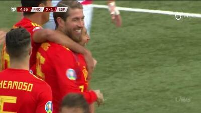 ¡GOOOL! Sergio Ramos anota para Spain