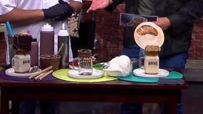 Así puedes realizar unas merengadas con helado y dulces de varios pisos