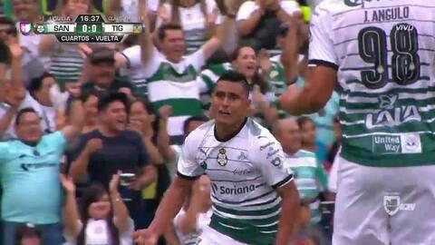 ¡GOOOL! Osvaldo Martínez anota para Santos Laguna