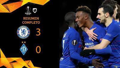 Chelsea 3-0 Dinamo - GOLES Y RESUMEN - IDA - OCTAVOS DE FINAL - UEFA Europa League