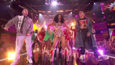 Cardi B, Bad Bunny and J Balvin's AMA's colorful performance was on point