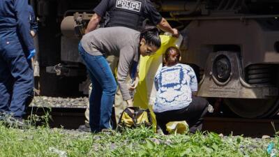 En fotos: Hombre es arrastrado por un tren en Texas