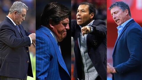 La lista de los ocho técnicos campeones y descendidos en el fútbol mexicano