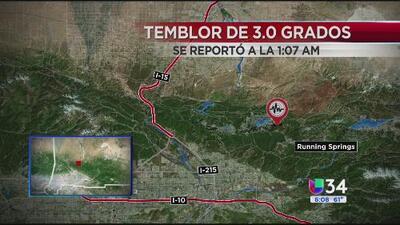 Temblor de 3.0 estremeció a San Bernardino