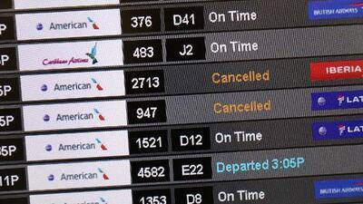 Reportan cancelaciones de vuelos en el sur de Florida debido a la situación en Venezuela