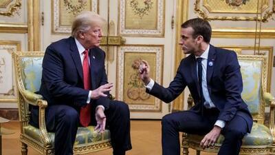 """""""Mi propuestas para la defensa europea son coherentes"""", le dice Macron a Trump en París"""