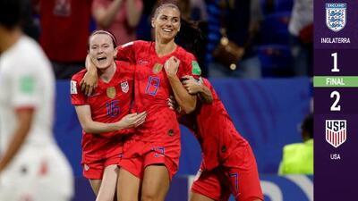 Estados Unidos se impone a Inglaterra y llega a su tercera Final seguida del Mundial Femenil