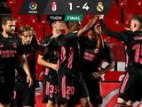 Real Madrid golea al Granada y se mantiene en la lucha por LaLiga