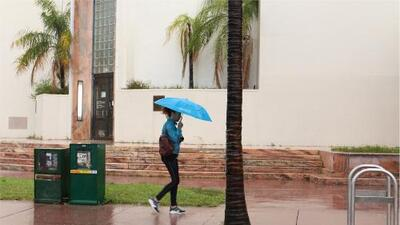 Aliste el paraguas: este martes se espera un 70% de probabilidad de chubascos y tormentas en Miami