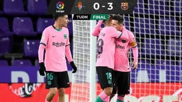 Messi rebasó a Pelé en autoritario triunfo sobre Valladolid