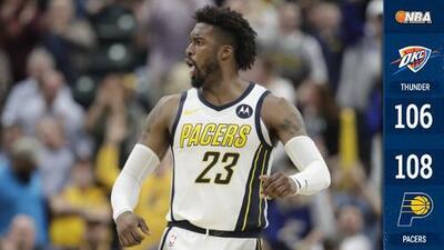 Los Pacers vencen al Thunder pese a tener desventaja de 19 puntos