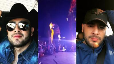 En medio del fuego: Francisco 'El Gallo' Elizalde sufre accidente en el escenario