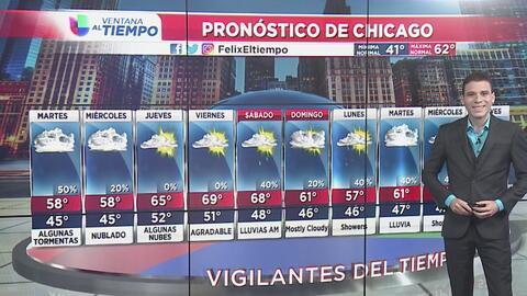 Chicago tendrá un amanecer de lunes con cielos nublados y la posibilidad de lluvias en la noche