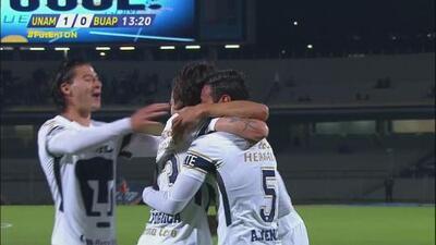 Alan Mendoza marcó de cabeza el 1-0 para Pumas