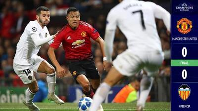 No quedaron conformes: Manchester United y Valencia empataron sin goles en un partido intenso