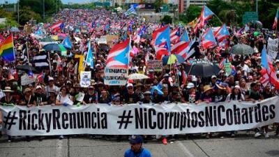 Aumenta la presión contra el gobernador de Puerto Rico: nueva movilización masiva le pide la renuncia