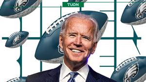Joe Biden fue jugador de futbol americano y es fan de los Eagles