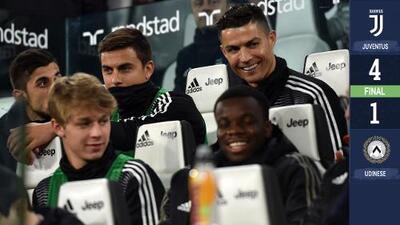 Descansando a CR7 y Dybala para el 'Atleti', Juventus ganó en Serie A