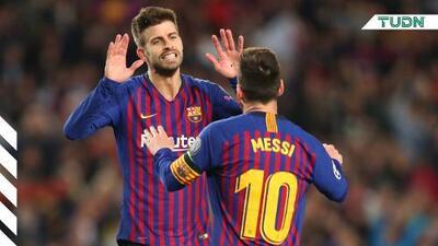 Revelan intensa plática de Messi y Piqué ante el Inter de Milán