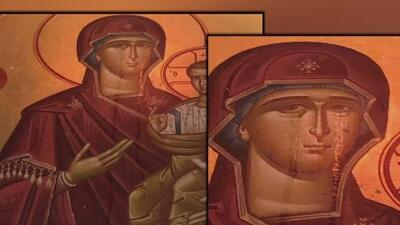 La imagen generó un gran revuelo: la virgen esta llorando, repiten a viva voz los creyentes