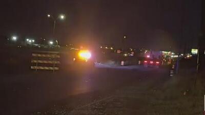 Se registra un aparatoso accidente en la carretera I-10 en San Antonio