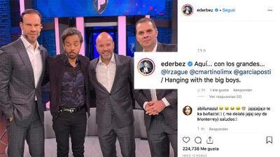 Eugenio Derbez aprovecha visita a programa deportivo para 'verle el chilacayote' a Zague