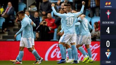 ¡Revive el Celta! Con goleada ante el Eibar, Mohamed se mantiene con vida en La Liga