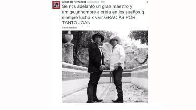 Los artistas reaccionan ante la muerte de Joan Sebastian