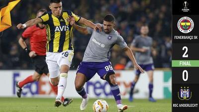 El Fenerbahce vence al Anderlecht por 2-0 con un Valbuena espectacular