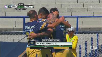 Alan Mendoza anotó un golazo digno de escuela a Santos Laguna