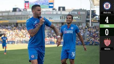 Cruz Azul goleó al Necaxa y se quedó con el título de la Supercopa MX