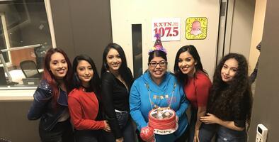 Las Fenix surprises Univision employee with birthday serenade