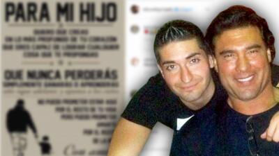 """""""Sigue adelante y apunta a los cielos"""": Eduardo Yáñez y su hijo dejaron atrás sus pleitos"""