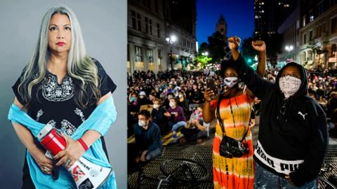 Esta candidata latina está en la primera línea de las protestas por los derechos de los afroestadounidenses