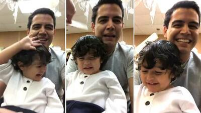 Esto es lo que tuvo qué hacer Orlando Segura para que su hijo Joshua se dejara cortar el cabello