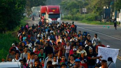 Más de un millar de centroamericanos entra a México justo cuando en Washington discuten cómo detener el flujo migratorio