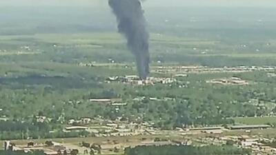 Emiten una orden de resguardo por el incendio en una planta química de Crosby: ¿qué deben hacer los residentes?