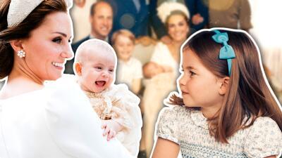 Mira el tiernísimo gesto de Charlotte con su hermano en las fotos oficiales del bautismo 💖
