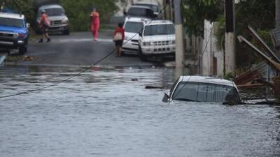 Fuertes inundaciones en Puerto Rico tras el paso del huracán María