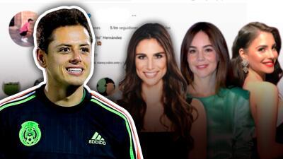 Solamente una de las exnovias de 'Chicharito' lo ha felicitado en redes sociales porque será papá